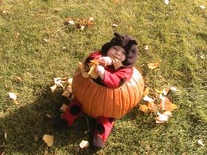 Pumpkin body suit